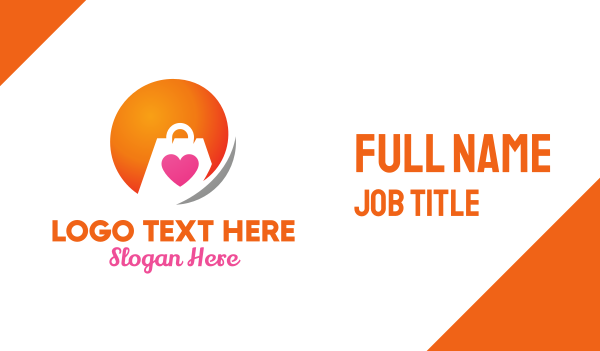 orange sun - Fashion Bag Delivery Business card horizontal design