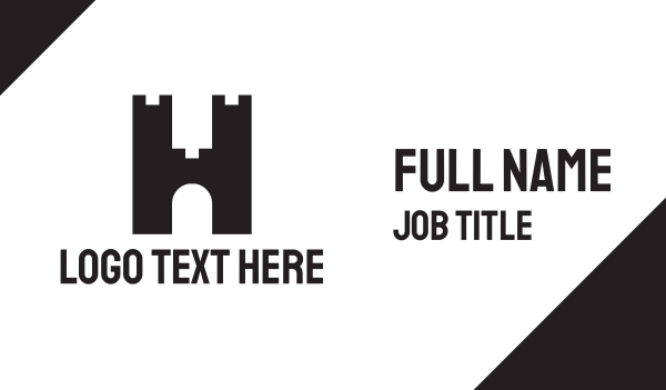 wall - Fort Letter H Business card horizontal design