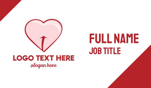 playboy - Red Pink Heart Business card horizontal design
