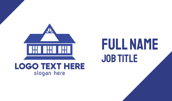 dark blue - Old Blue House Business card horizontal design