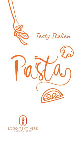 Italian Pasta Script Text Facebook story