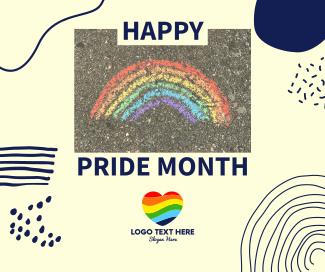 Happy Pride Month Facebook post