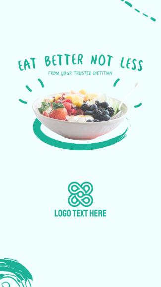 Eat Better Not Less Facebook story
