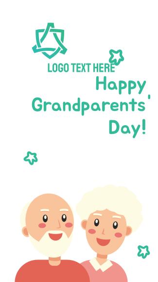 Grandparents Day Illustration Greeting Facebook story