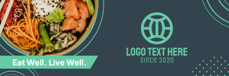 Healthy Food Sushi Bowl Twitter header (cover)