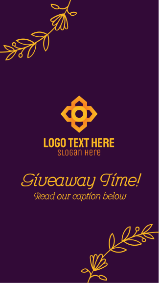 Floral Abstract Giveaway Facebook story