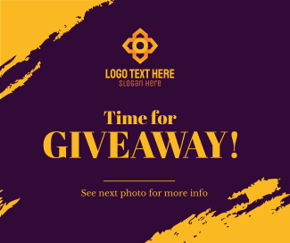 Time for Giveaway Facebook post