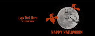 Happy Halloween Ghost Night Facebook cover