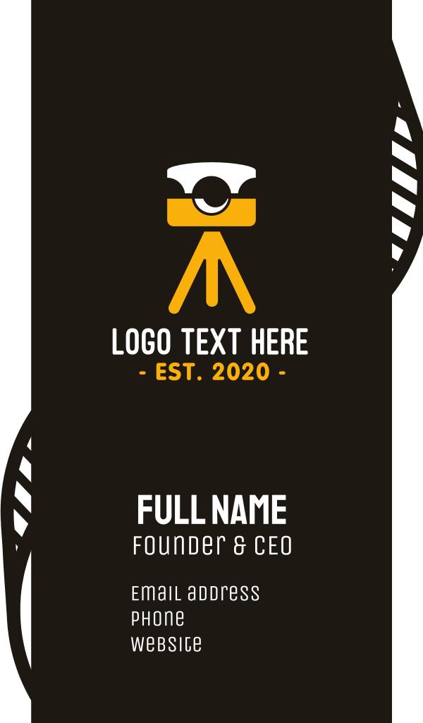 Photography Camera Tripod Business Card