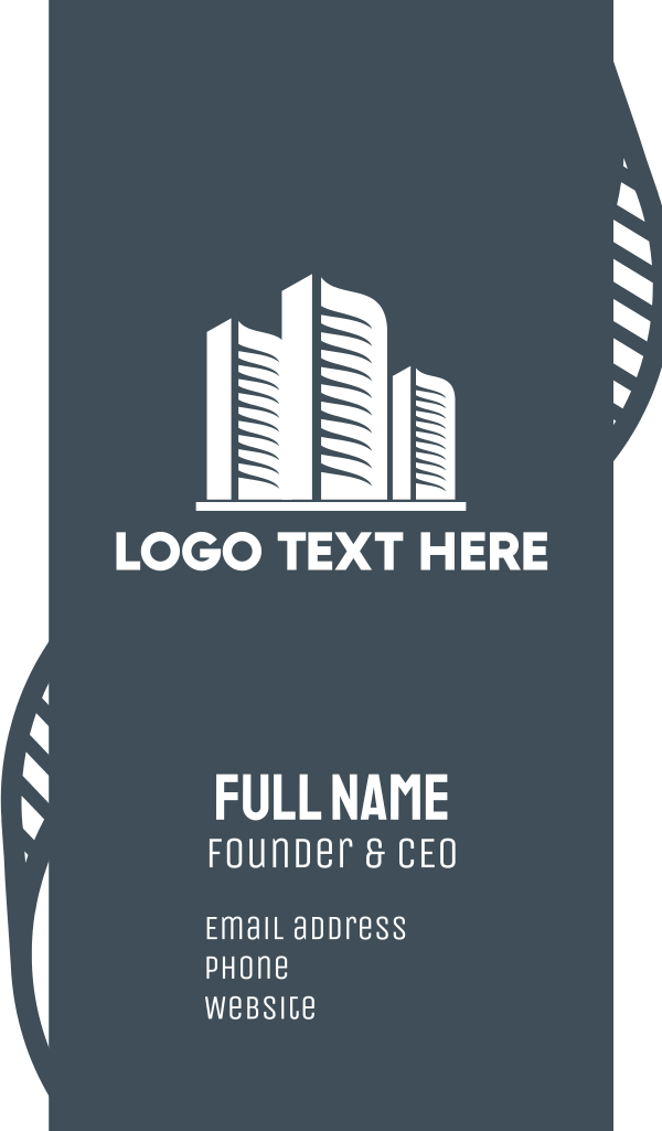 White Buildings Business Card