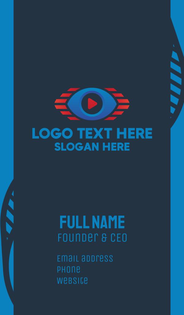 Youtube Video Stream Eye Business Card