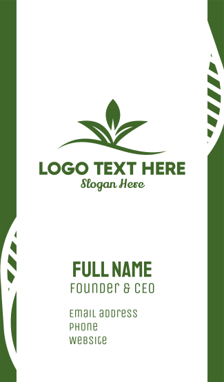 Wavy Leaves Business Card