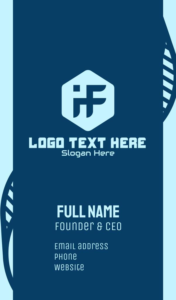 Tech Monogram I & F Business Card