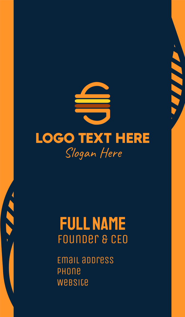 Retro Cheeseburger Business Card