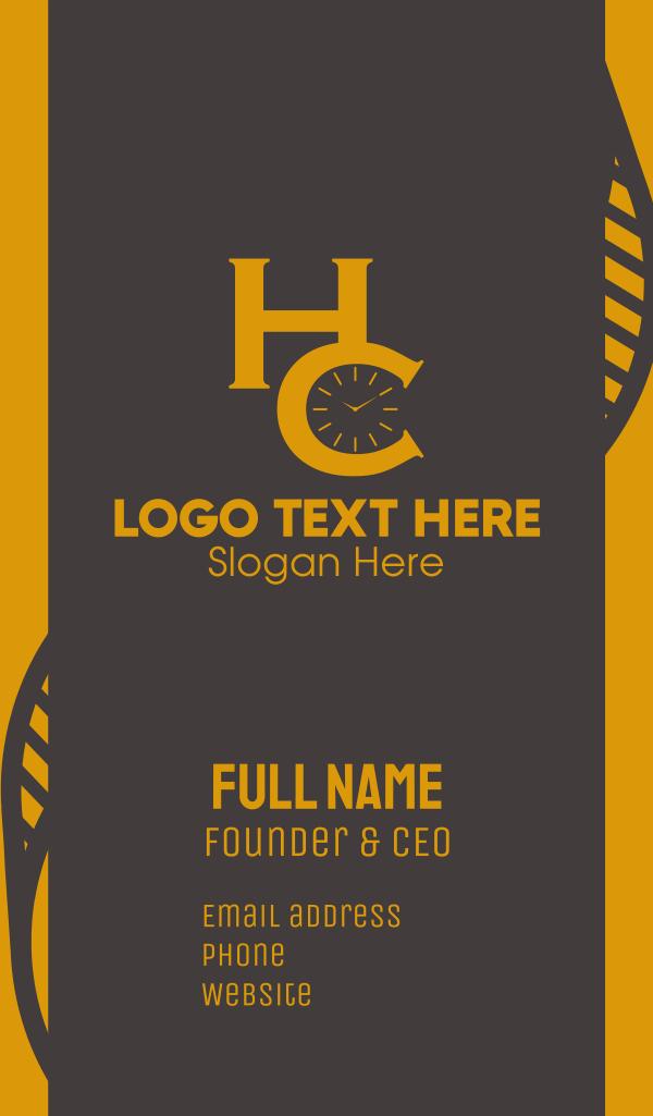 H & C Clock Business Card