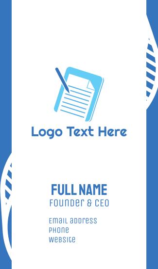Essay Pad Business Card