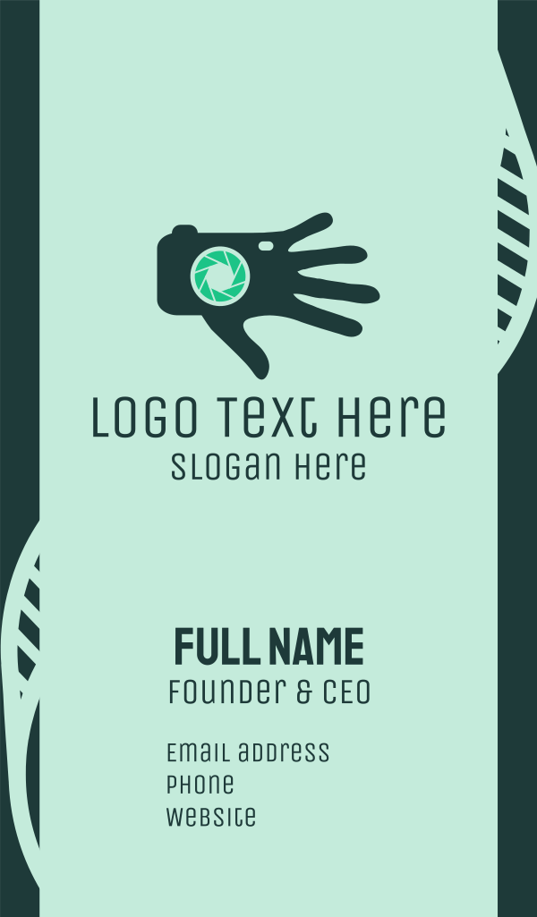 Photography Camera Lens Hand Business Card