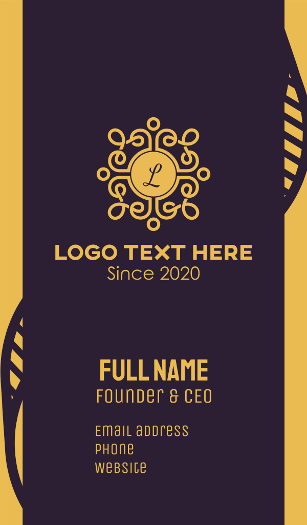 Golden Luxe Letter Business Card