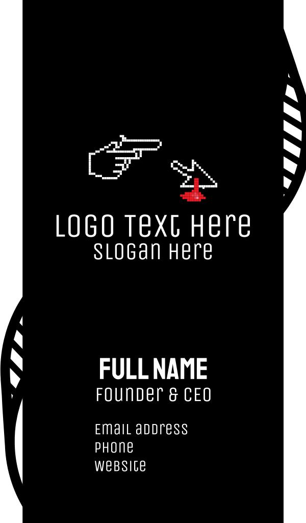 Pixel Murder Game Business Card