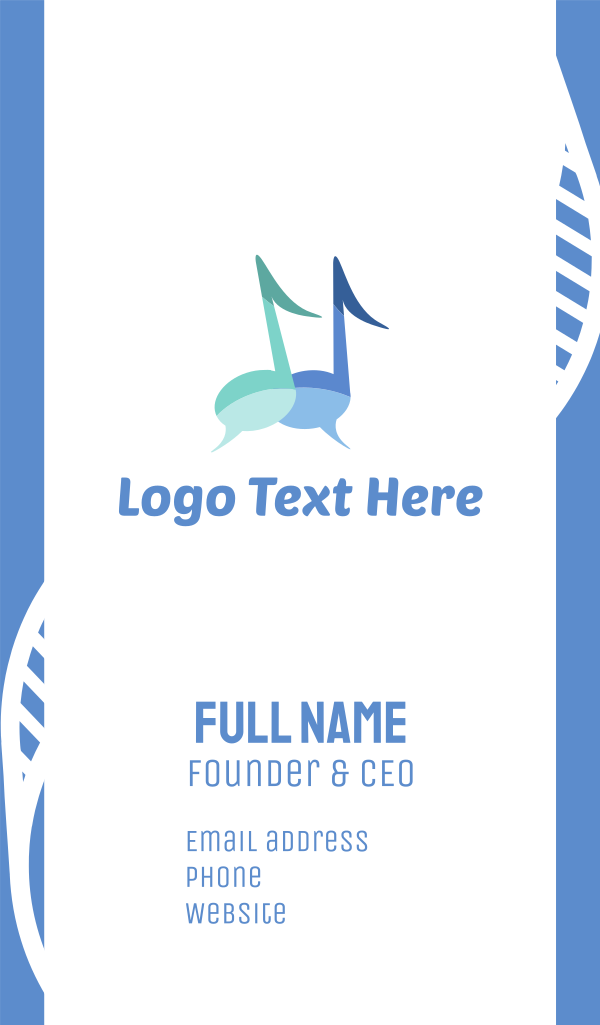 Music Chat Business Card