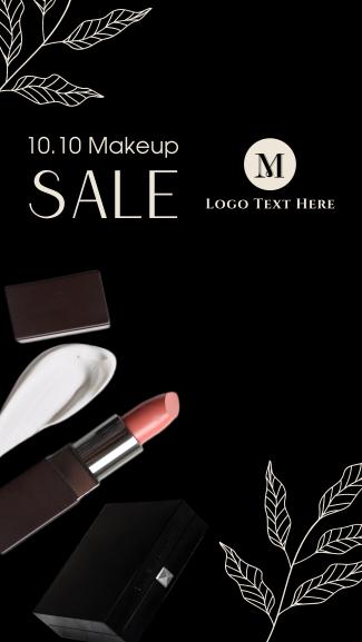 10.10 Makeup Sale  Facebook story