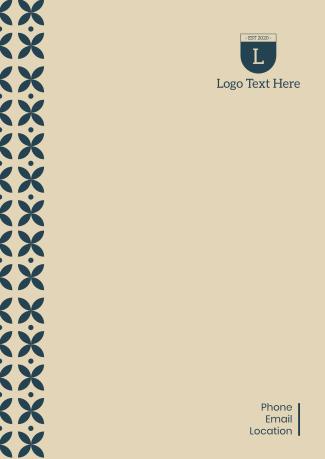 Petals Pattern Letterhead