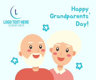 Grandparents Day Illustration Greeting Facebook post