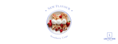 Strawberry crepe Facebook cover