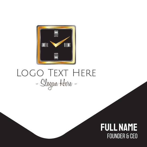 Square Clock Business Card
