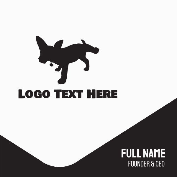 Black Dog Silhouette Business Card