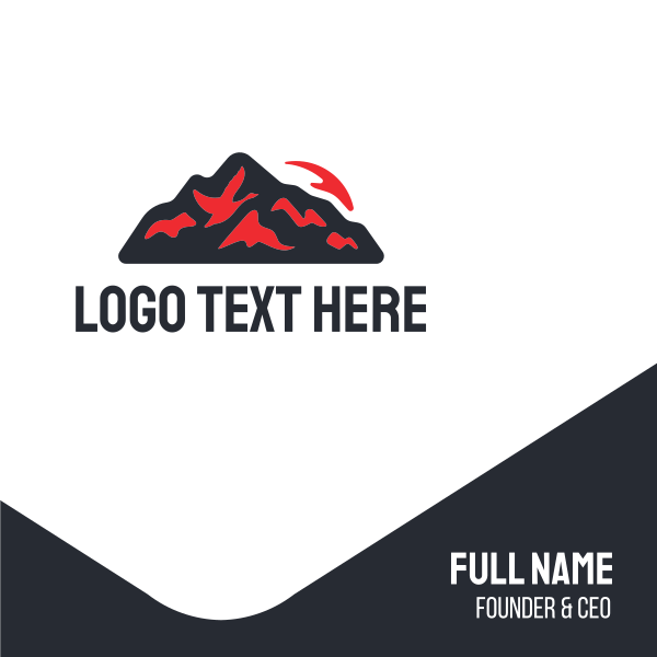 Red Volcano Business Card