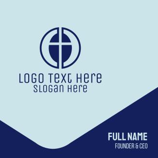 Modern Catholic Cross Business Card