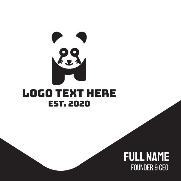 Key Lock Panda Business Card
