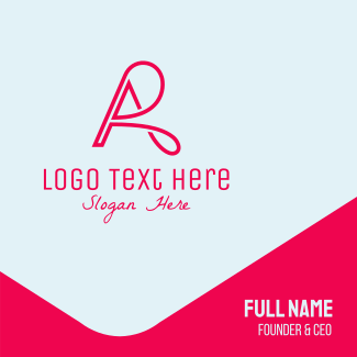 Letter A & R Business Card