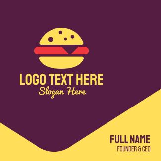 Fast Food Burger Business Card