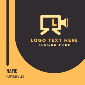 Film Production Lettermark Business Card