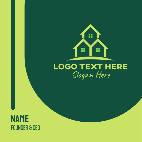 Triple Green House Business Card