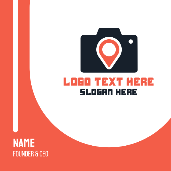 Photography Location Pin Business Card
