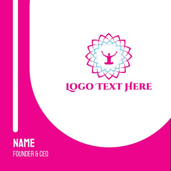 Meditation Flower Business Card