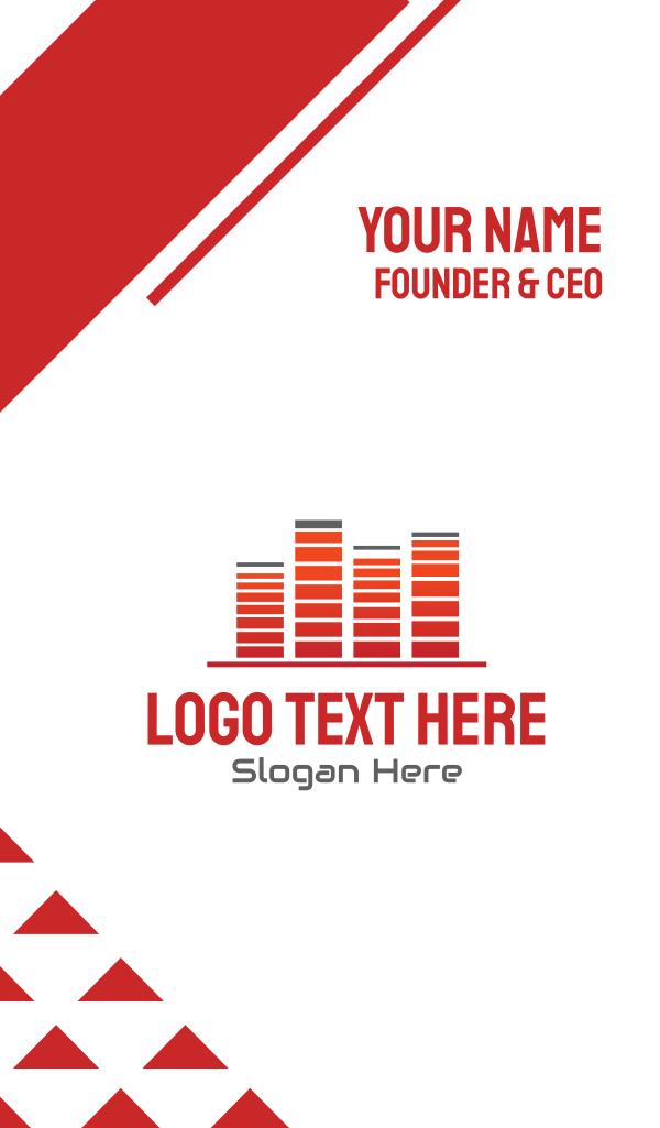 Audio Bar Graph Business Card