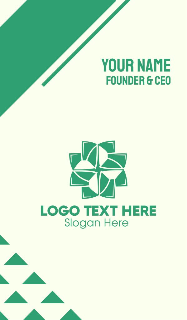 Organic Cross Leaves Business Card