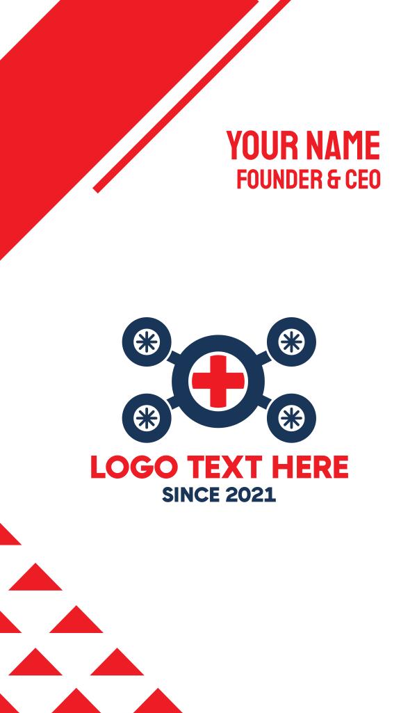 Medical Ambulance Drone Business Card