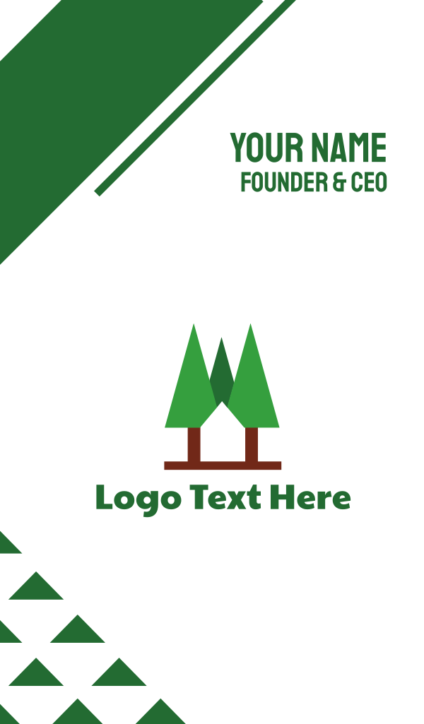 Forest Cabin Home Business Card