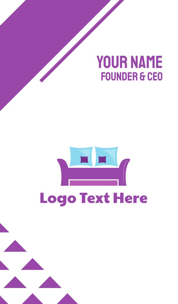 Purple Furniture Business Card