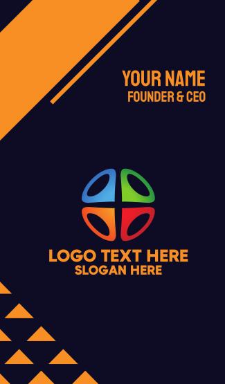 Multicolor Locator Business Card