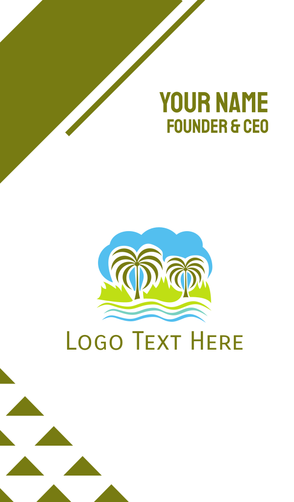 Tropical Oasis Business Card