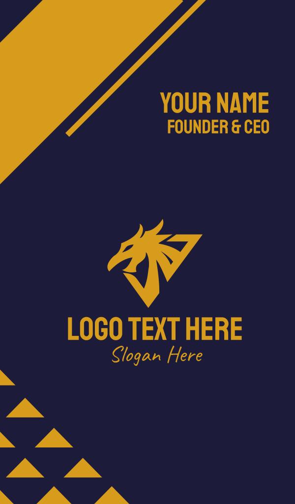 Golden Eagle Dragon Business Card