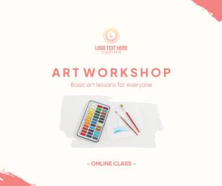 Art Class Workshop Facebook post