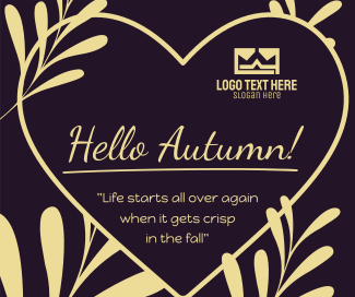 Autumn Season Facebook post