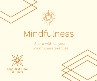 Mindfulness Exercise Facebook post